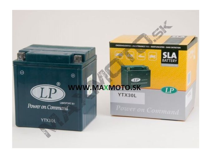 Batéria gélová LP YTX30L, BS BIX30L, BIX30HL, elektrolytová BS BIX30L-BS, 12V 30Ah, 166x126x173
