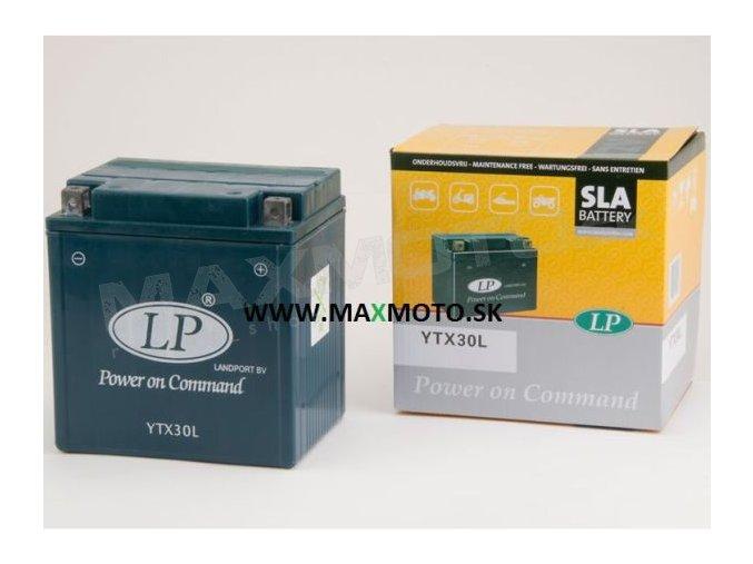Batéria LP YB30L, YTX30L 12V 30Ah, 166x126x173, gélová