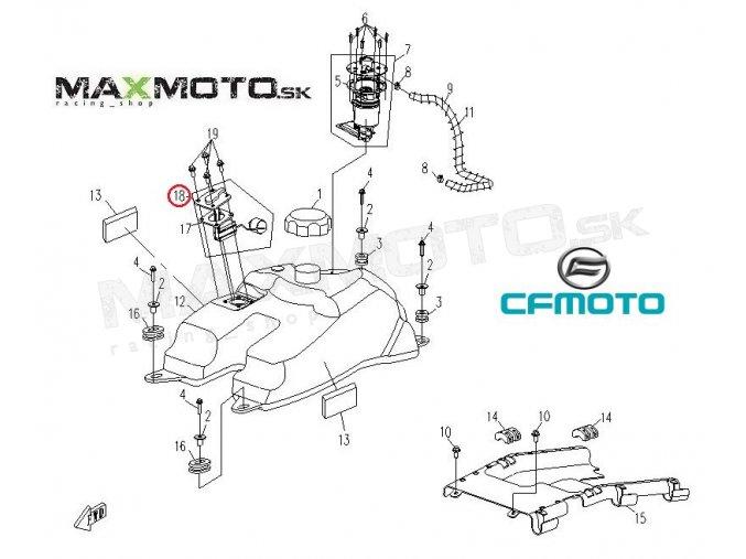 Plavák paliva CF MOTO Gladiator RX510/ RX530/ X5/ X6, 9010-170120