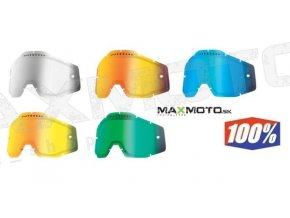 Náhradné plexi 100% RACECRAFT / ACCURI - zrkadlové dvojsklo