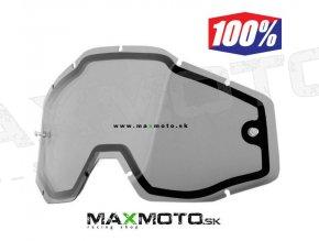 Náhradné plexi 100% RACECRAFT / ACCURI / STRATA - dymové dvojsklo