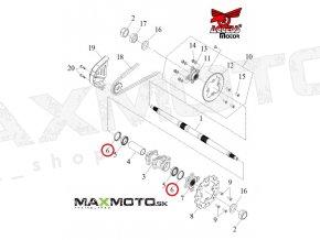 Tesnenie ložiska uloženia zadnej osi ACCESS Tomahawk/ MAX, 96100-506808