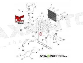 Ventilátor chladiča Access Tomahawk 250/300/400, 18100-E10-000