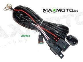 Káblovanie s vypínačom a relé k doplnkovým LED svetlám, 40A, 12V