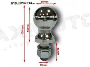 Ťažná guľa / zariadenie pre štvorkolky MMG, úchyt 19mm, guľa 50mm