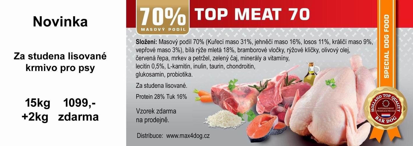 Za studena lisované krmivo Bardog Top Meat 70