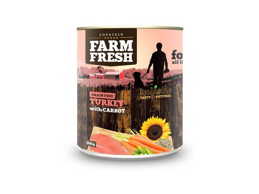 farm fresh turkey with carrot