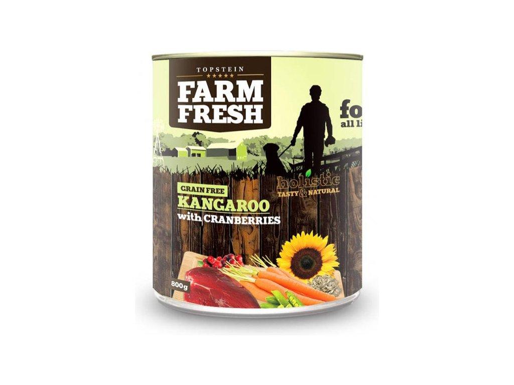 farm fresh kangaroo with cranberries