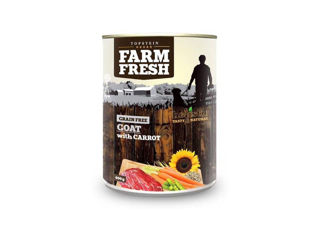 farm fresh goat with carrot