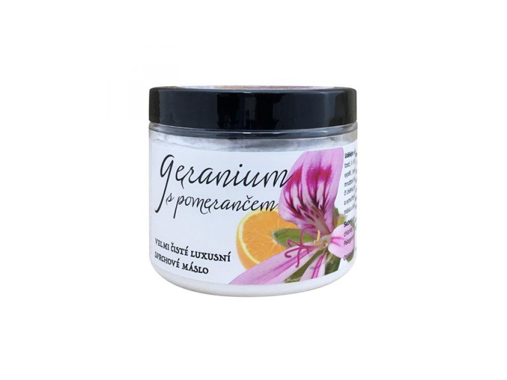 sprchove maslo geranium s pomerancem+ 600x600