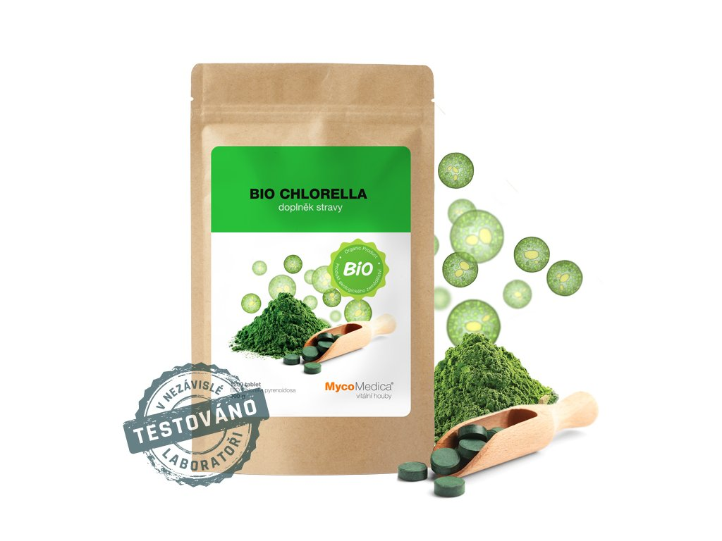 Chlorella bio powder vitalni
