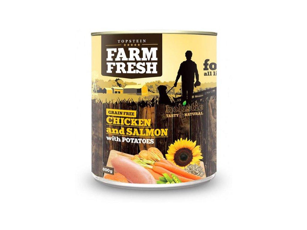 farm fresh chicken salmon