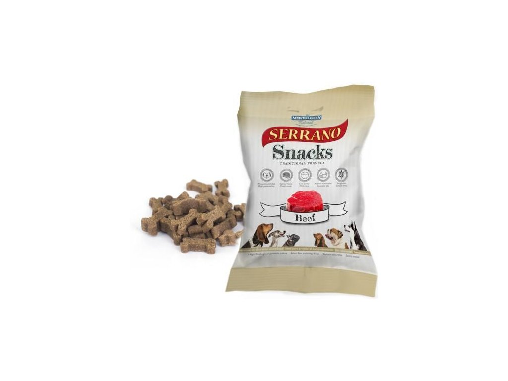 Serrano Snack for Dog Beef 100g