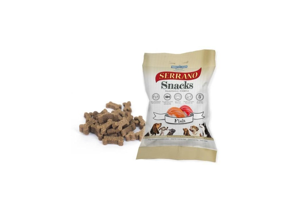 Serrano Snack for Dog Fish 100g