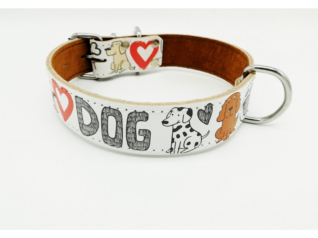 Kožený obojek DOG