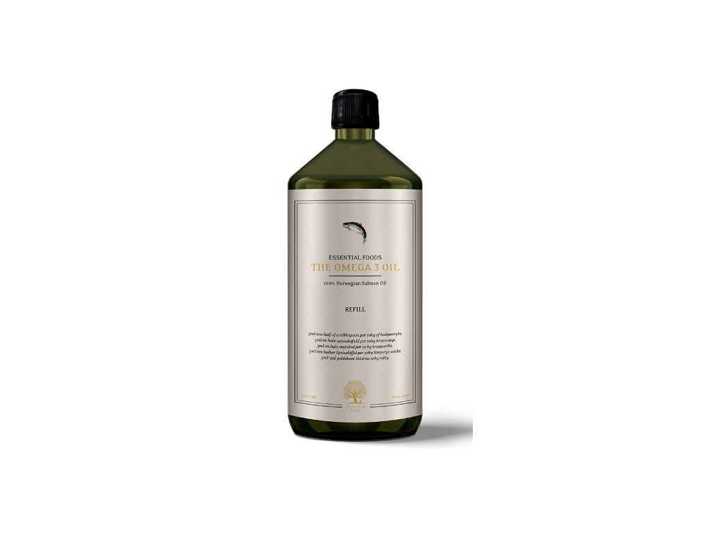 Nový obal - essential foods omega 3 oil 1l