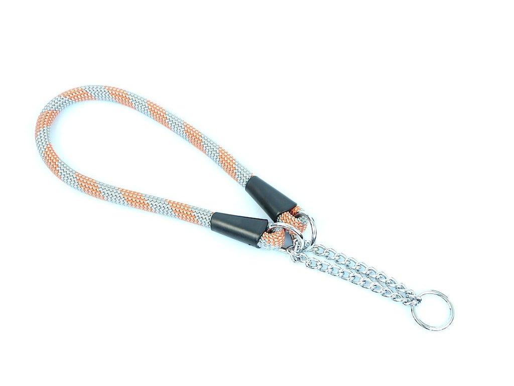 Aminela obojek lano - Serie G, šedá/oranžová