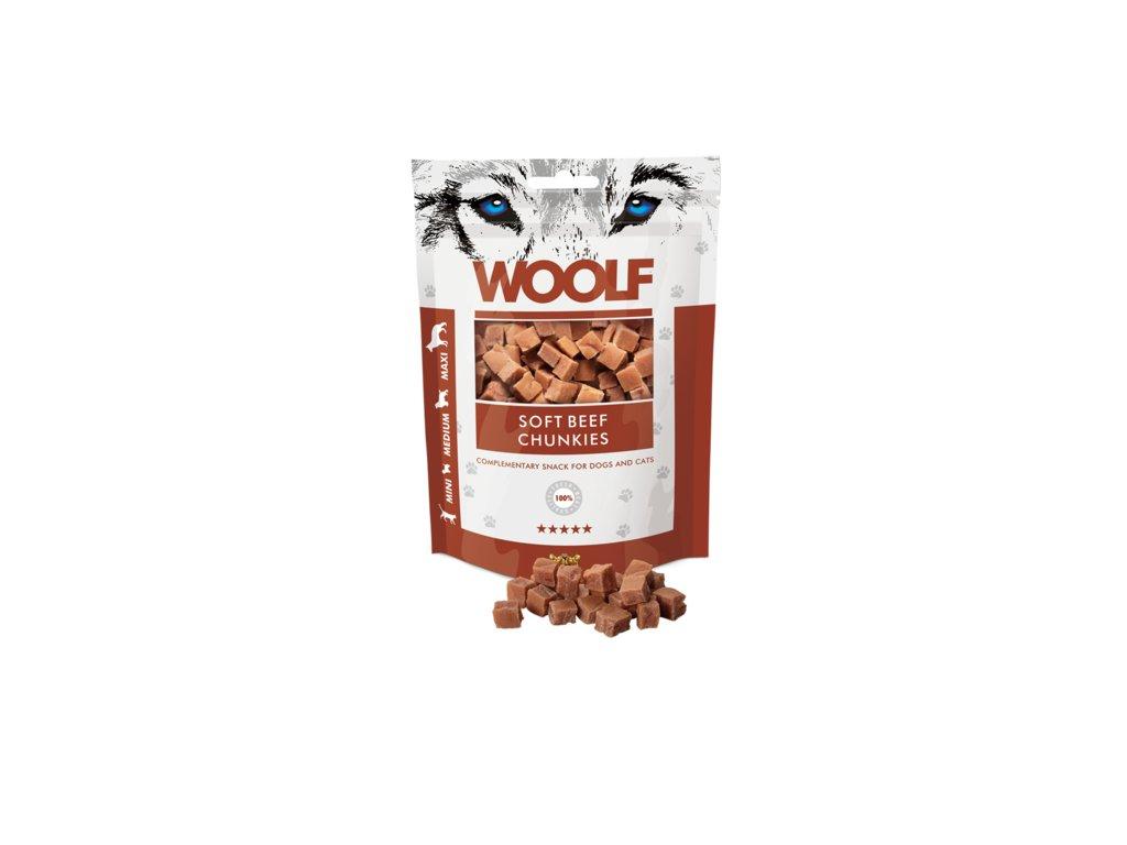 WOOLF Beef chunkies 100g