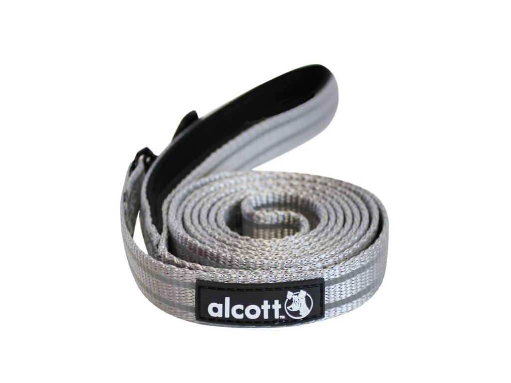 Alcott vodítko reflexní šedá