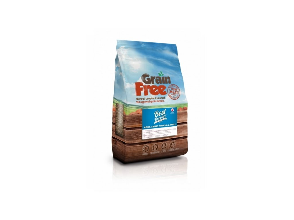 best breeder grain free pork sweet potato apple 2 kg
