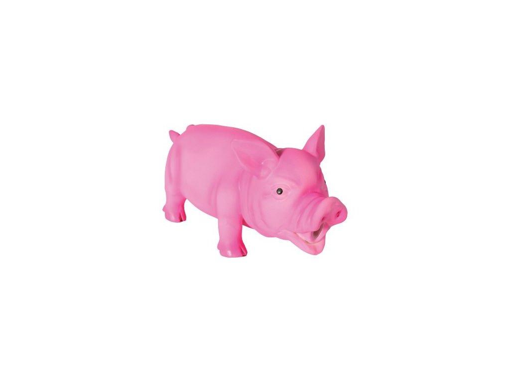 60577 PLA Hundespielzeug Latex Schwein mit Stimme 15cm HS 6