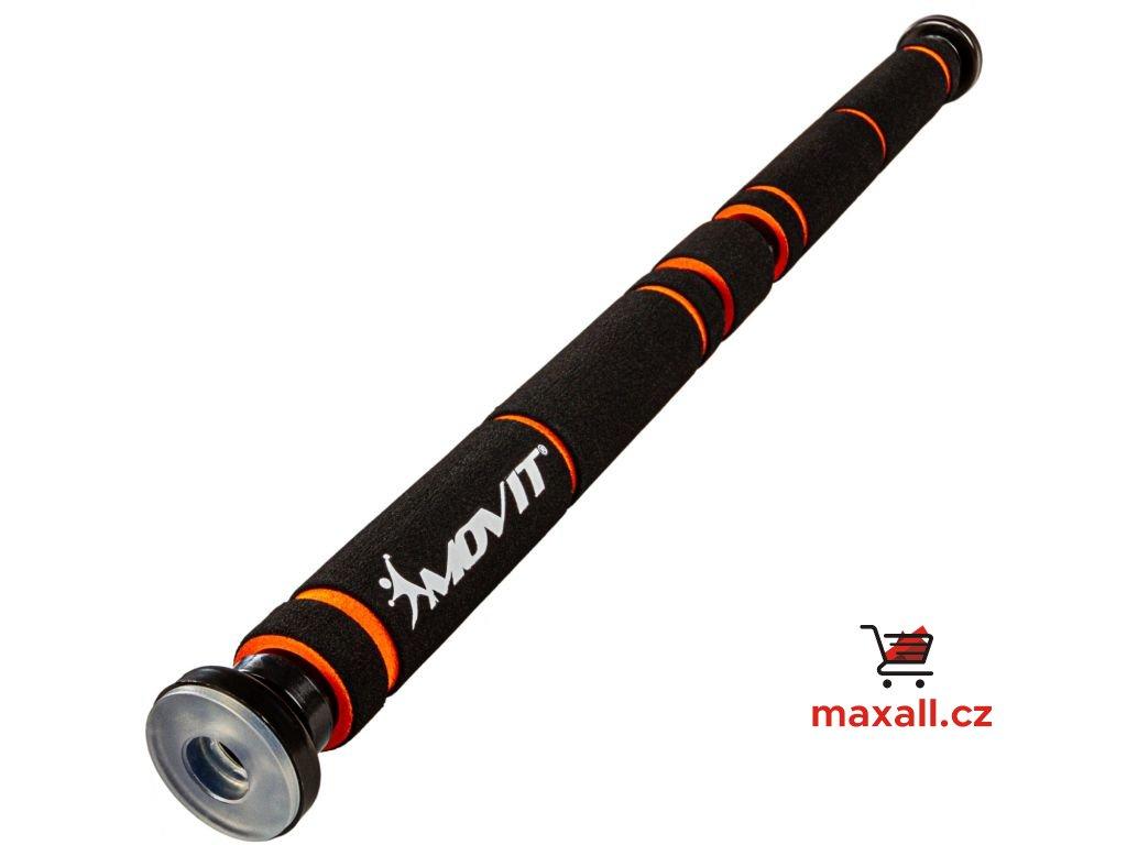 MOVIT Hrazda do dveří, teleskopická, černá/oranžová