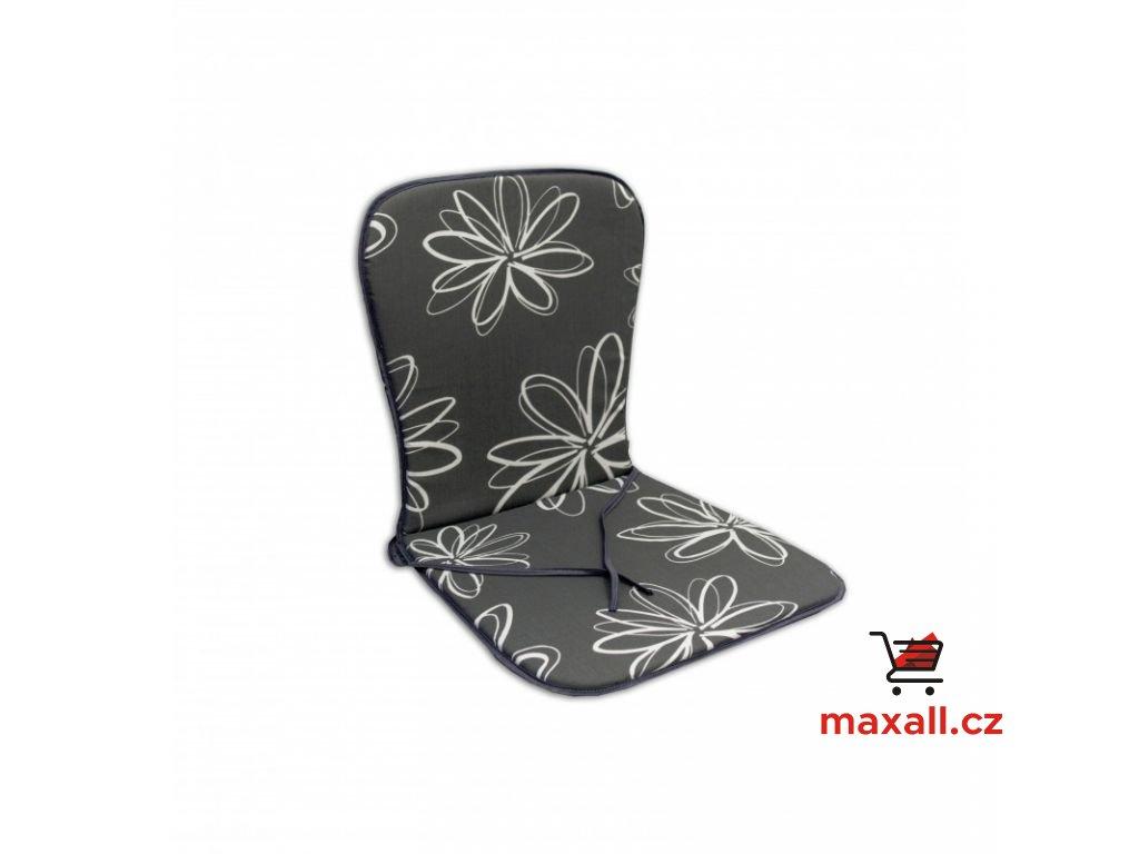 Sedák SAMOA - šedý s květy 30200-700
