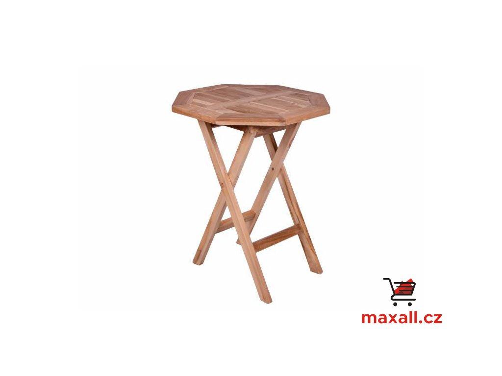 DIVERO zahradní stolek z týkového dřeva, Ø 60cm