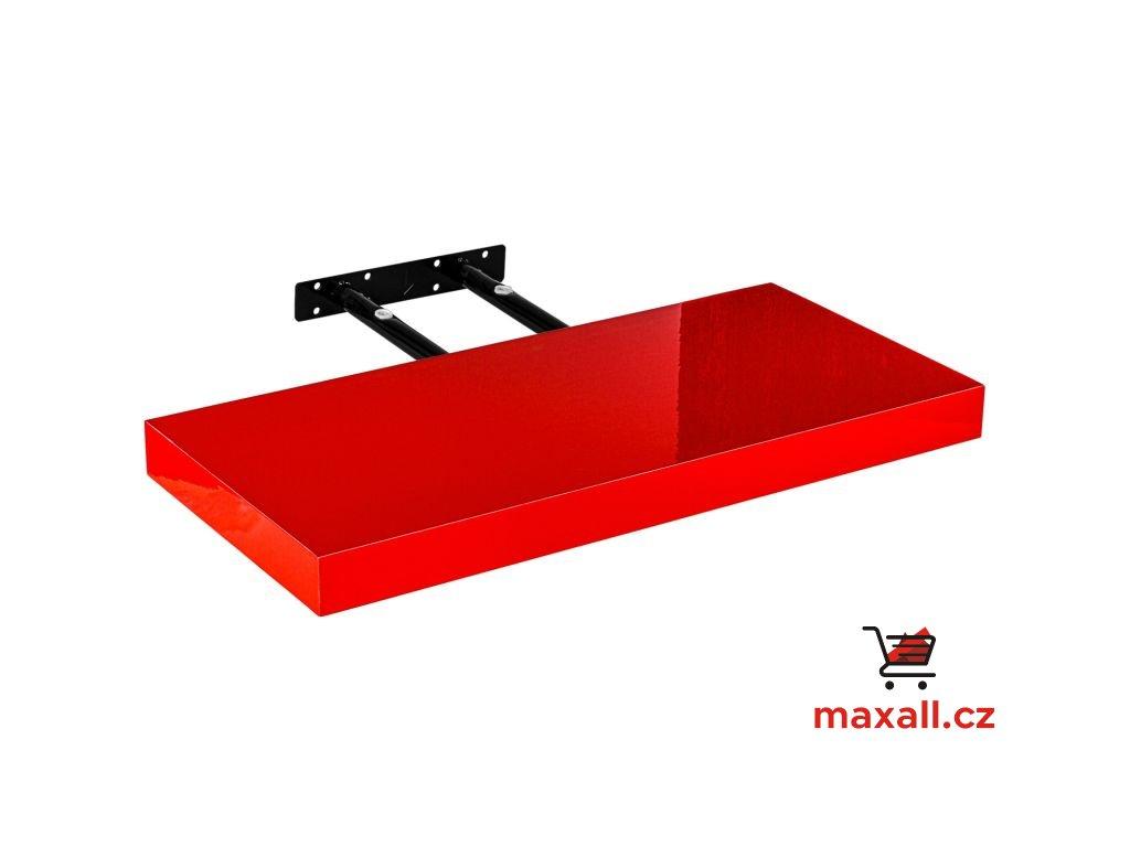 Stilista nástěnná police Volato, 70 cm, lesklá červená