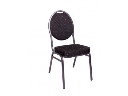 Kongresová židle kovová MONZA- černá