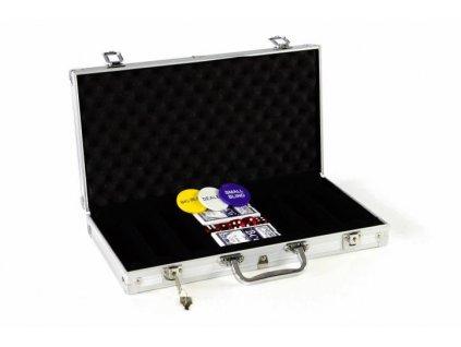 Hliníkový kufr na 300 ks žetonů s příslušenstvím