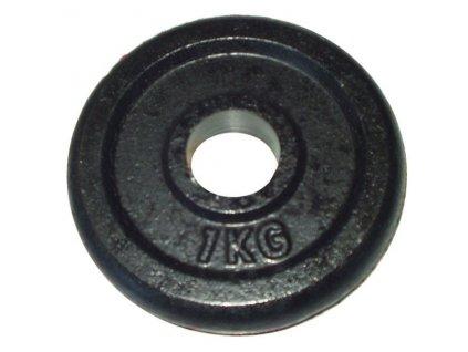Litinový kotouč (závaží) na činky 1kg - 30 mm