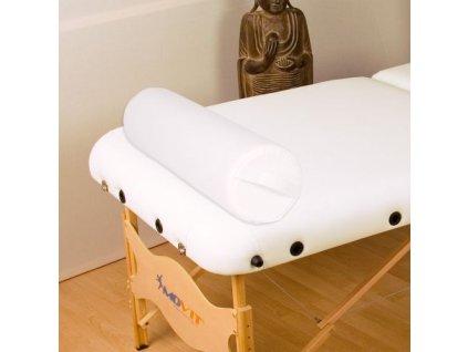 Polštář pro masážní stůl bílý 68 cm válec