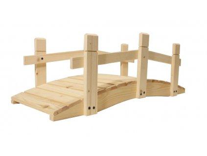 Zahradní dřevěný můstek - bez povrchové úpravy - 71 cm
