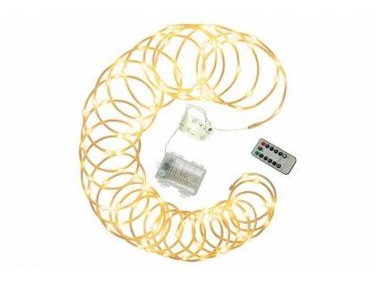 Vánoční LED osvětlení - MINI kabel, 10 m, teple bílý