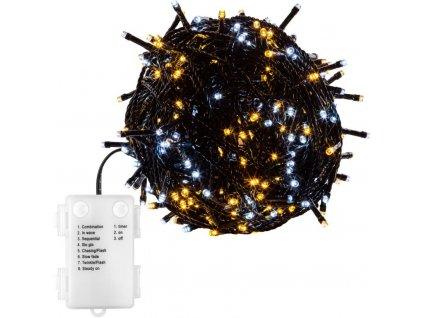 Vánoční 50 LED osvětlení - 5 m, teple a studeně bílé