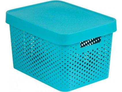 CURVER úložný box INFINITY DOTS - 17 L, modrý