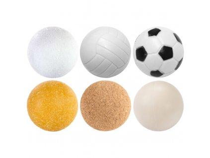 Sada 6 ks fotbálkových míčků - 35mm