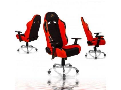 """RACEMASTER """"RS Series"""" herní židle - černá/oranžová"""