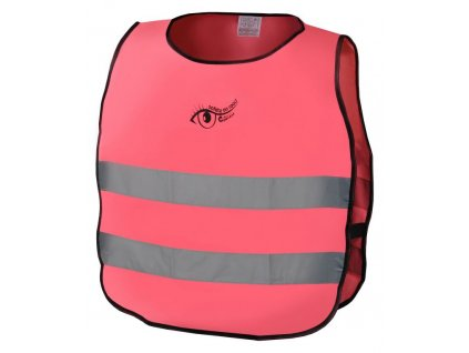 Výstražná růžová dětská vesta S.O.R. - 53 cm, růžová