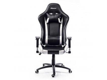 Kancelářská židle Nebraska - černá, bílá