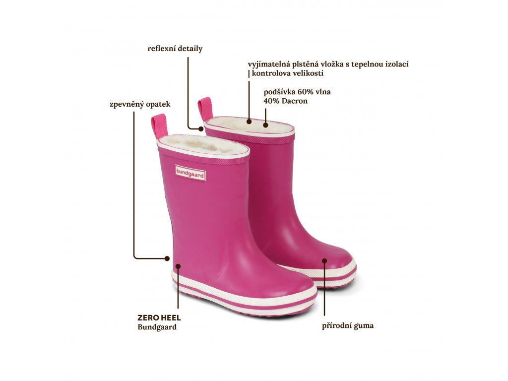 Bundgaard Classic Rubber Boot Blood Dusty Lavender - Gumáky