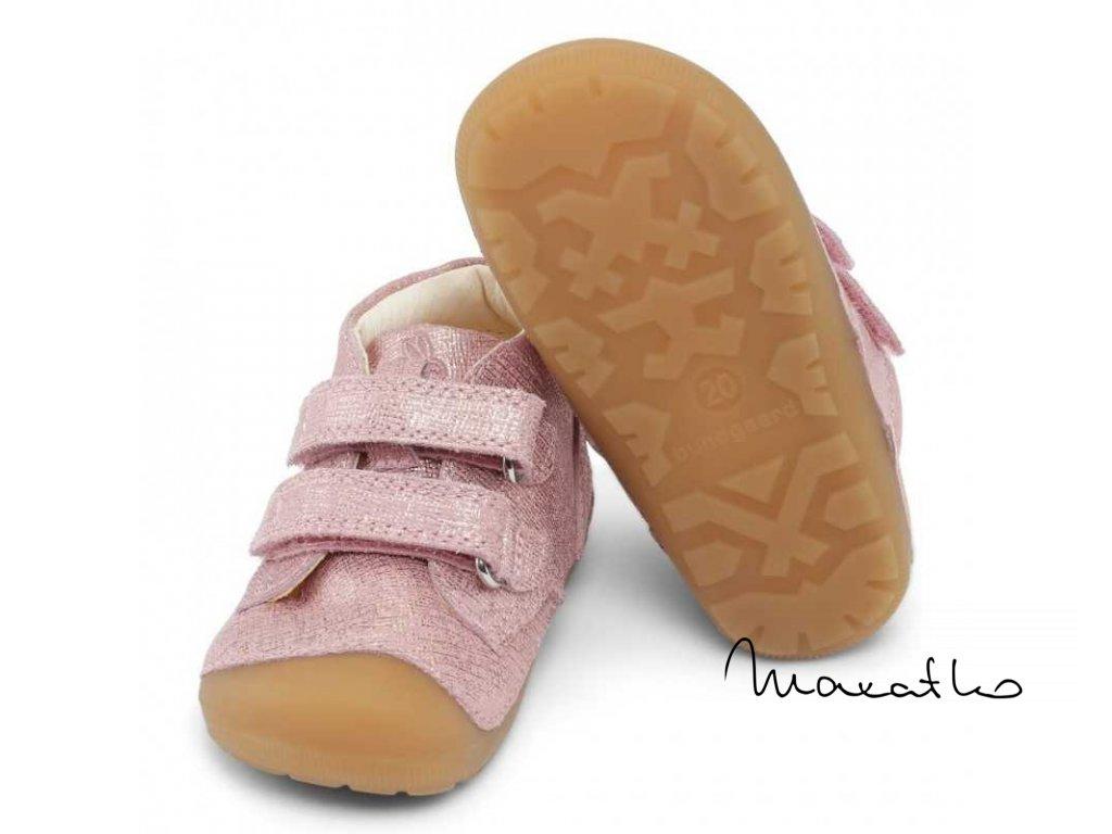 Bundgaard Petit Velcro Pink Grille - Celoročná obuv)