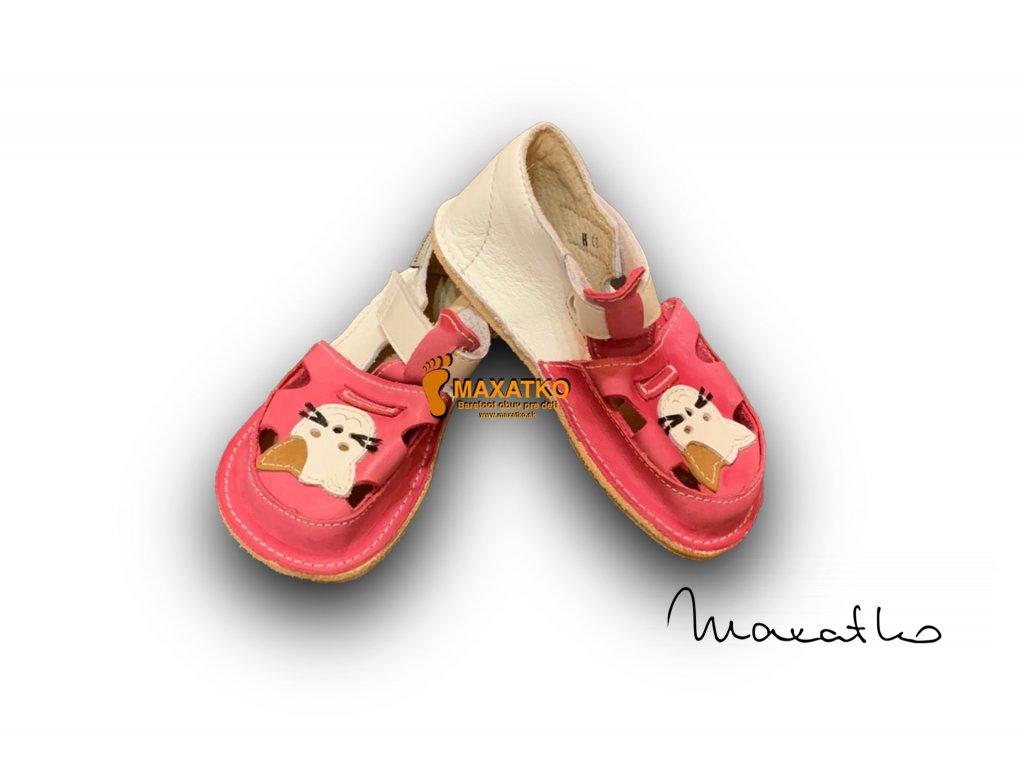 OrtoPlus/OkBarefoot - Ithaka - D1/H - ružovo-biele - Sandálky
