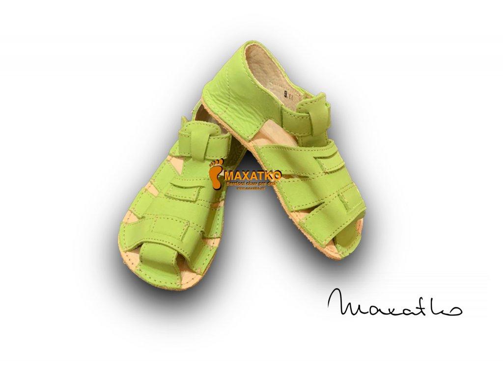 OrtoPlus/OkBarefoot - Palm- D201/G - Zelené - Sandálky