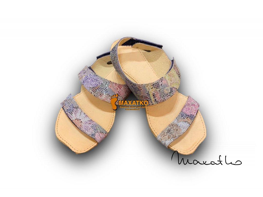 OrtoPlus/OkBarefoot - Bora - 108 - Kvietkované - Dámske sandále