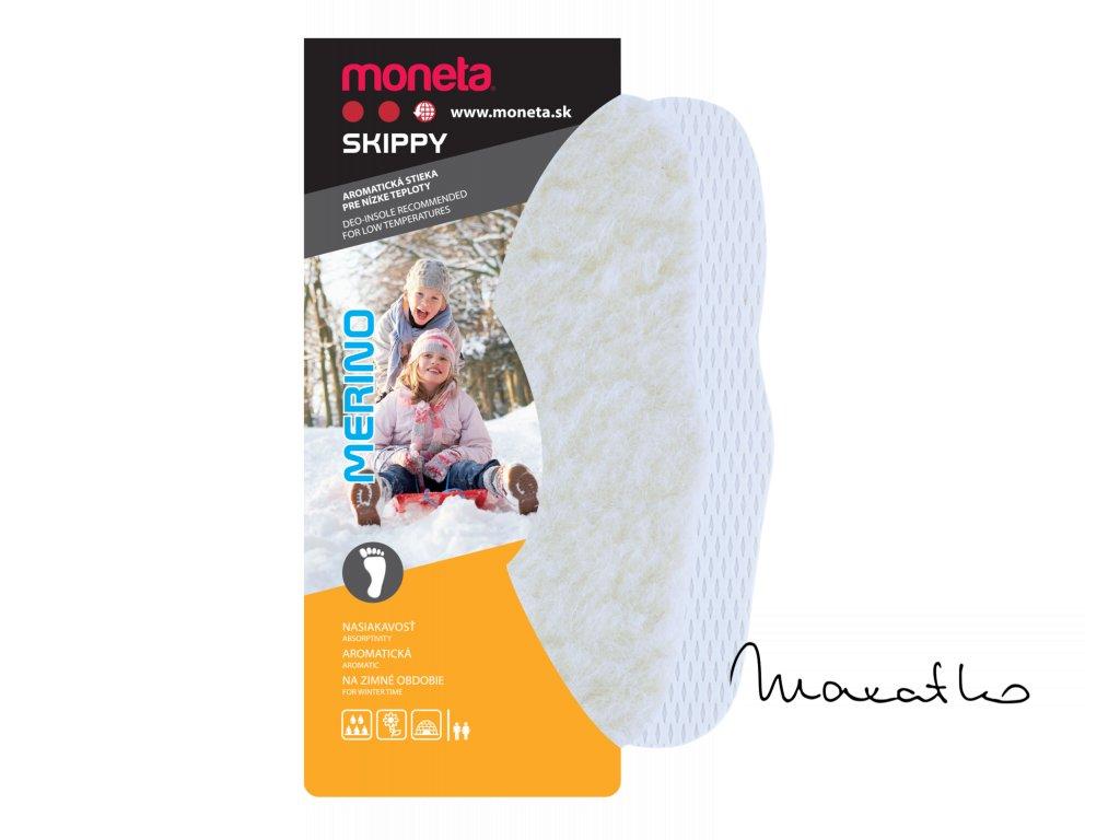 MONETA Skippy Merino - Zimné vložky do topánok, veľ.22 - 35
