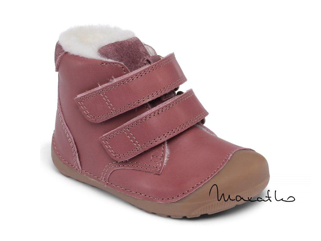 Bundgaard Petit Winter Mid Velcro - Plum - Zimné topánky