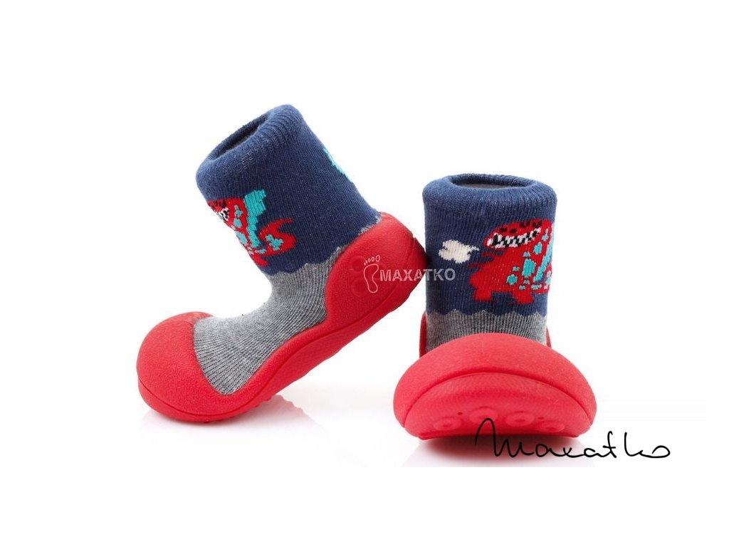 Attipas - Dinosaur Red - Papuče