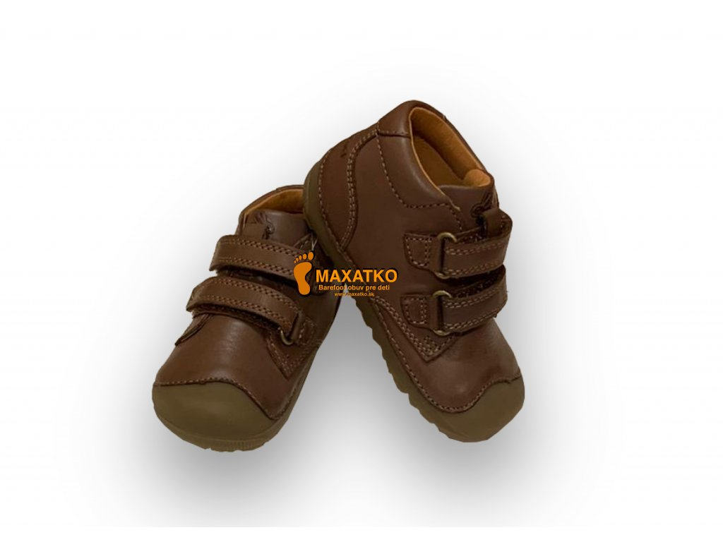 Bundgaard Petit Velcro Mink Brown - Celoročné topánky